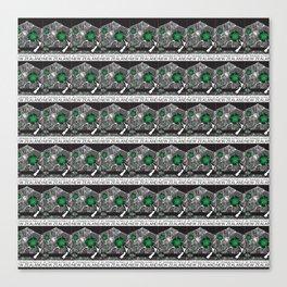Mt Taranaki/Manukau Stamp Collage Canvas Print