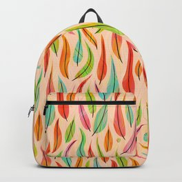 Flying Luscious Leaves on Soft Apricot (pattern) Backpack