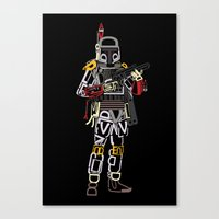 boba Canvas Prints featuring Boba Font by Fabian Gonzalez
