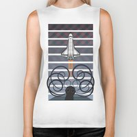 gravity Biker Tanks featuring Gravity by milanova