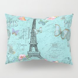 Paris - my blue love Pillow Sham