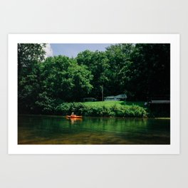 summer canoe Art Print
