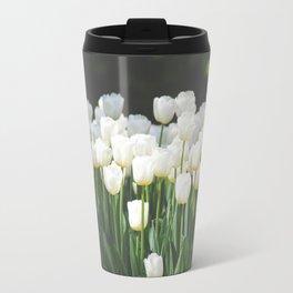 Field of White Tulips Travel Mug
