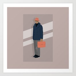 Trilby and Briefcase Art Print