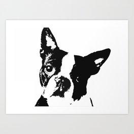 Very Mod, Very Cute.Boston Terrier Original Artwork Art Print