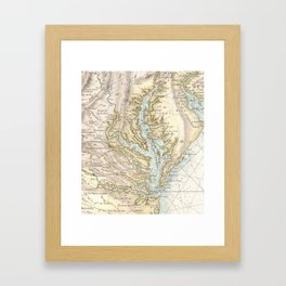 Vintage Map of The Chesapeake Bay(1778) 2 Framed Art Print