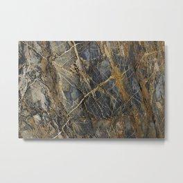 Natural Geological Pattern Rock Texture Metal Print