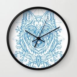 Wolf & cicada Wall Clock