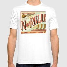 Nashville Mens Fitted Tee White MEDIUM