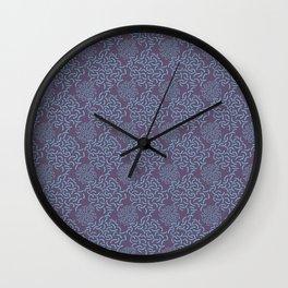 Neo Memphis Coordinate Purple Blue Wall Clock