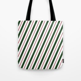 Peppermint Candy Cane Tote Bag