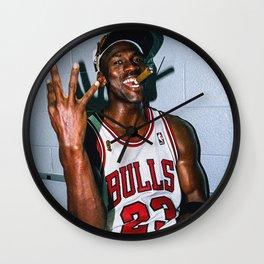Vintage MJ Threepeat  Wall Clock
