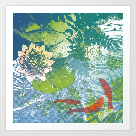 Fish pool  Art Print