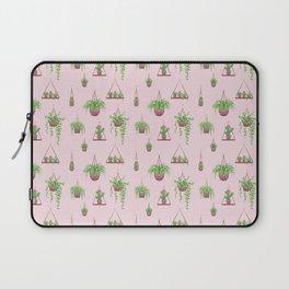 Mother, Macramé I? - Hanging Plants on Pink Laptop Sleeve