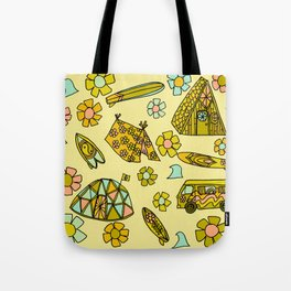 wanderlust // dream homes among the waves // surfy birdy art Tote Bag