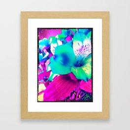 Inverted Flower Framed Art Print