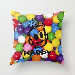 HAPPY GUMBALLS Throw Pillow