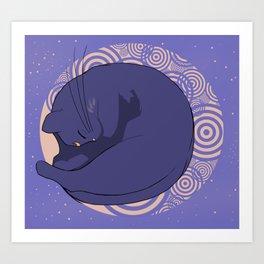 Sleeping MoonCat Art Print