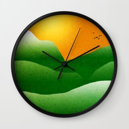 Mountain Sunrise Landscape Wall Clock