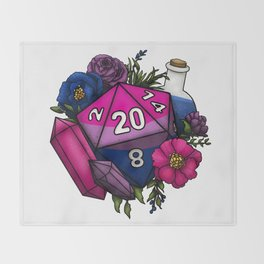Pride Bisexual D20 Tabletop RPG Gaming Dice Throw Blanket