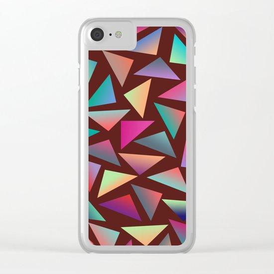 Geometric Pattern VI Clear iPhone Case