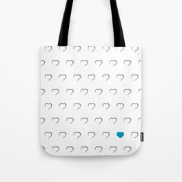 Hearts - Blue Tote Bag