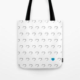 Hearts - Blue Tote Bag