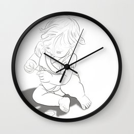 Girl in Nature #1 Wall Clock