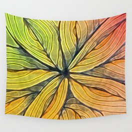 Doodled Aura-Leah Digitized Macro Wall Tapestry