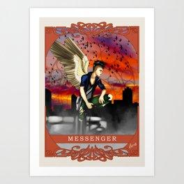 Wings Of Faith : Messenger Art Print