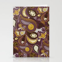 potter Stationery Cards featuring Potter Paisley by Kate Moore