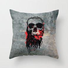 Blood Skull Throw Pillow