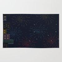 night sky Area & Throw Rugs featuring Night Sky by Suchita Isaac