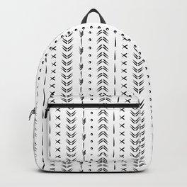 Black and white boho tribal pattern design Backpack