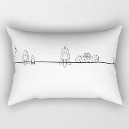 Line of birds Rectangular Pillow