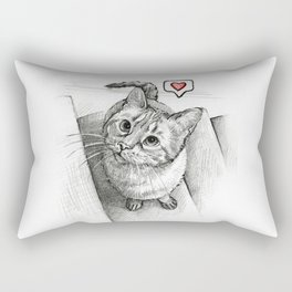 Cute Kitty Cat - Love Me Rectangular Pillow