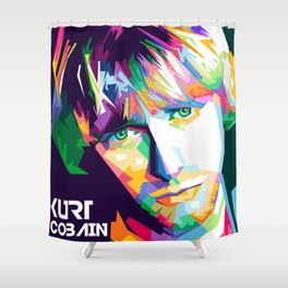 Cobain In Pop Art Shower Curtain