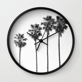 Four Palm Trees Wall Clock