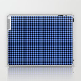 Mini Black and Sky Blue Cowboy Buffalo Check Laptop & iPad Skin