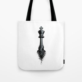Farewell to the King / 3D render of chess king breaking apart Tote Bag