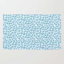Baby Blue Leopard Rug