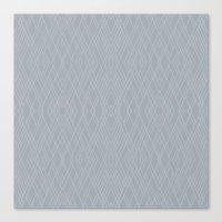 Art Deco Grey Silver Canvas Print