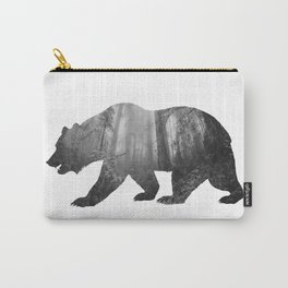 Bear Silhouette | Forest Photography Carry-All Pouch