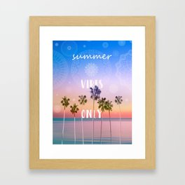 summer vibes only palm trees design Framed Art Print