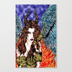 angel or demon in color Canvas Print