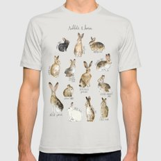 Rabbits & Hares 2X-LARGE Silver Mens Fitted Tee