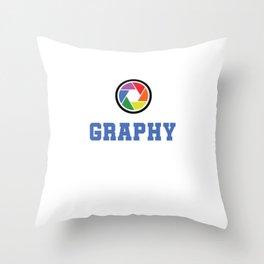 I Love Photography Photos Photographer Pictures Camera Cameraman Gift Throw Pillow