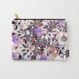 Beautiful watercolor flowers. Blue morning filed Carry-All Pouch