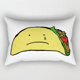 Sad Taco Rectangular Pillow