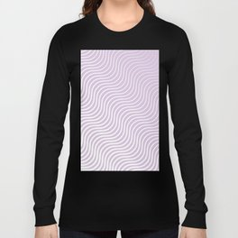 Whiskers Light Purple & White #713 Long Sleeve T-shirt